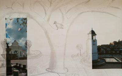 """Kūrybinės dirbtuvės """"Miesto montažai"""" Anykščių bibliotekoje"""