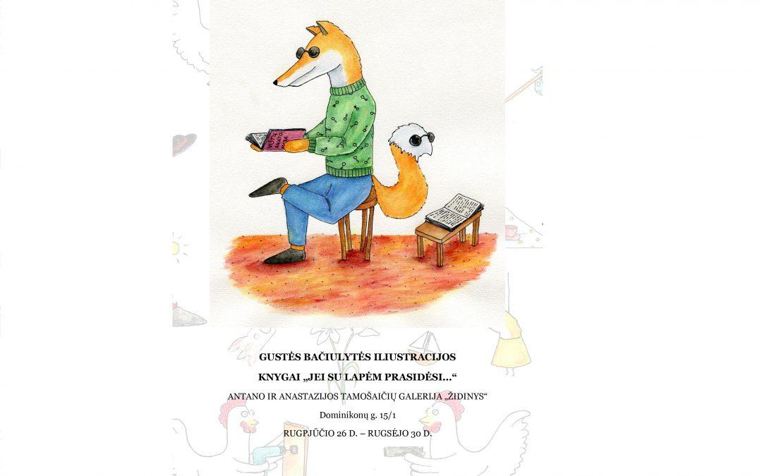 G. Bačiulytės iliustracijų paroda Kultūros nakties programoje