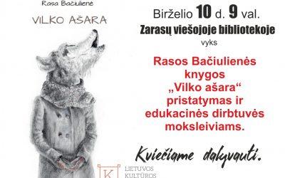 """Knygos """"Vilko ašara"""" pristatymas Zarasuose"""